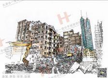 手绘建筑赏析,欢迎围观