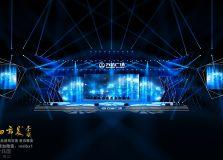 万达开业仪式舞美效果图典礼舞台效果图