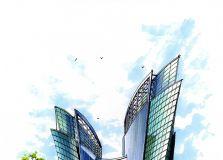 建筑表现(徒手手绘)——合一手绘、嘉文作品