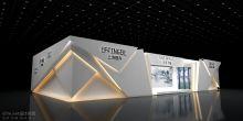 科技感折纸式墙纸展台设计(沐涟渔)