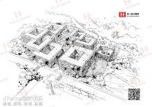 手绘未来生态建筑(合一设计教育原创)