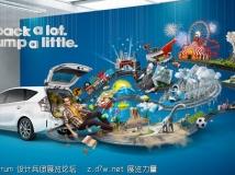 丰田 Prius V 广告制作过程剪切,很有创意的一个广告制作过程视频....