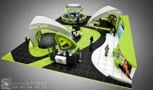 阿联酋最大的综合电信运营商--阿联酋电信(Etisalat)公司展台设计