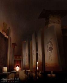洛阳博物馆中的汉魏馆效果图