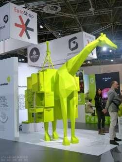 【设计兵团-大展报道】2014EUROSHOP-绿色长颈鹿(超级小展台)